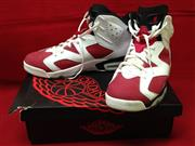 Nike Air Jordan 6 VI Retro White/Carmine-Black 384664 160 2014 Size 14
